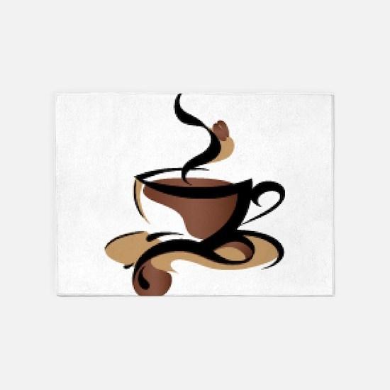 Coffee Time 5'x7'Area Rug