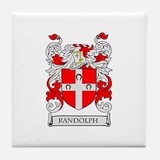 RANDOLPH Coat of Arms Tile Coaster