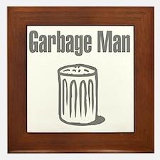 Garbage Man Framed Tile