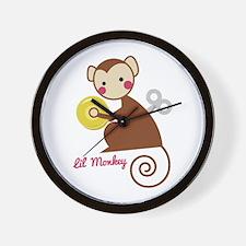 Lil Monkey Wall Clock