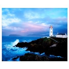 Lighthouse At Fanad Head, County Donegal, Ireland Poster