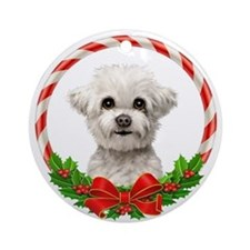 Baby Maltese Ornament (Round)