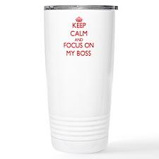 Cute I love my boss Travel Mug