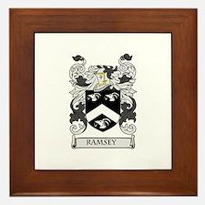 RAMSEY Coat of Arms Framed Tile