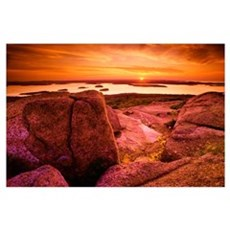 View From Cadillac Mountain At Sunrise, Acadia Nat Poster