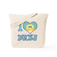I Love (Heart) Ducks Tote Bag