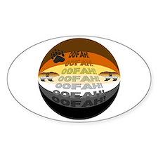 BEAR PRIDE SPHERE/OOFAH! Oval Decal