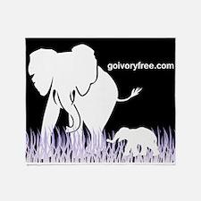 Elephant Lover Throw Blanket