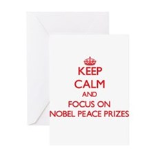 Keep Calm and focus on Nobel Peace Prizes Greeting