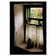 Cottage Window, County Kerry, Ireland Poster