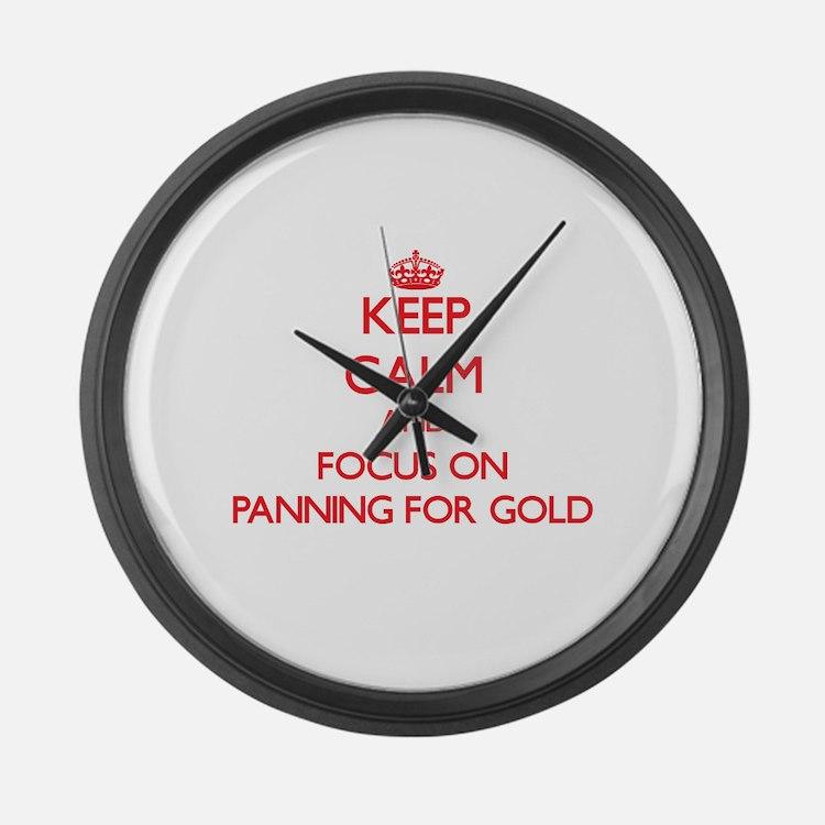 gold panning clocks gold panning wall clocks large