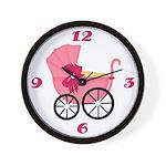 Pink Stroller Clock