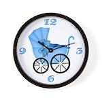 Blue Stroller Clock
