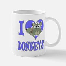 I Love (Heart) Donkeys Mug
