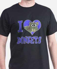 I Love (Heart) Donkeys T-Shirt