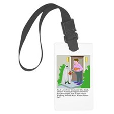 Halloween Trick or Treating Ghos Luggage Tag