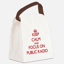 Unique Public radio Canvas Lunch Bag