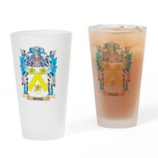 Hanna Coat of Arms - Family Crest Drinking Glass