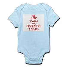 Keep Calm and focus on Radios Body Suit