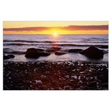 Sunset Over Water, Newfoundland, Canada Poster