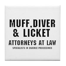Unique Muff diving Tile Coaster