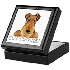 Welsh Terrier Cookies Keepsake Box