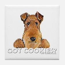 Welsh Terrier Cookies Tile Coaster