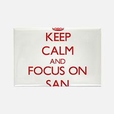Keep Calm and focus on San Magnets