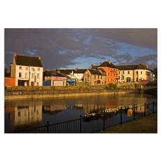 John's Quay and River Nore, Kilkenny City, County  Canvas Art