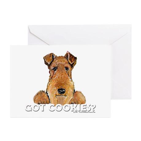 Welsh Terrier Cookies Greeting Cards (Pk of 10