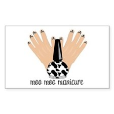 Moo Moo Manicure Decal