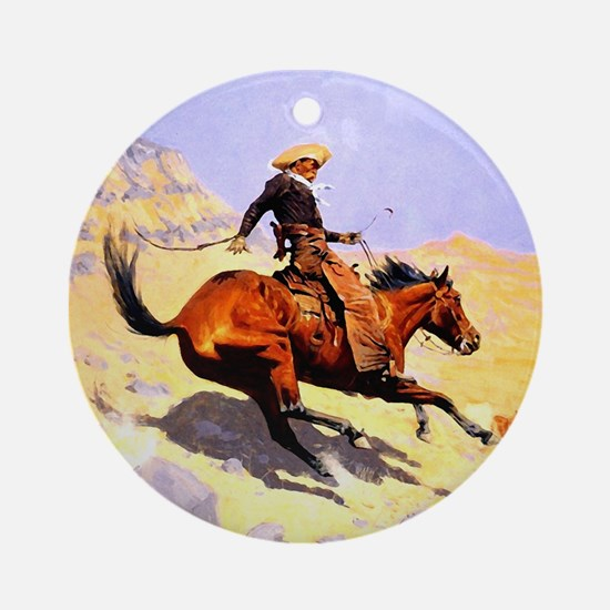 The Cowboy Ornament (Round)