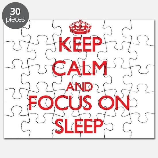 Cute Keep calm sleep Puzzle