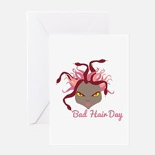 Bad Hair Day Greeting Cards
