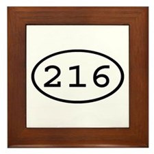 216 Oval Framed Tile