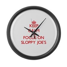 Funny Sloppy joe Large Wall Clock