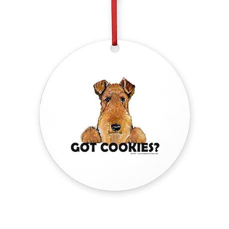 Welsh Terrier Cookies Ornament (Round)