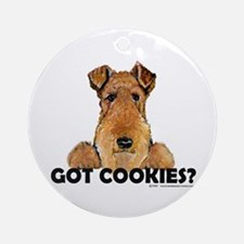 Welsh Terrier Cookies Ornament (Round)