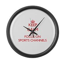 Cute Fox sports Large Wall Clock