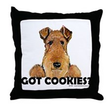Welsh Terrier Cookies Throw Pillow