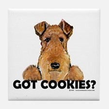 Welsh Terrier Cookies Tile Coaster