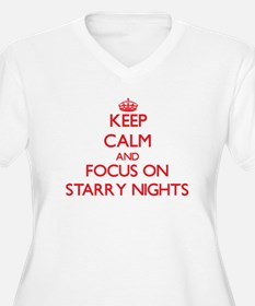 Keep Calm and focus on Starry Nights Plus Size T-S