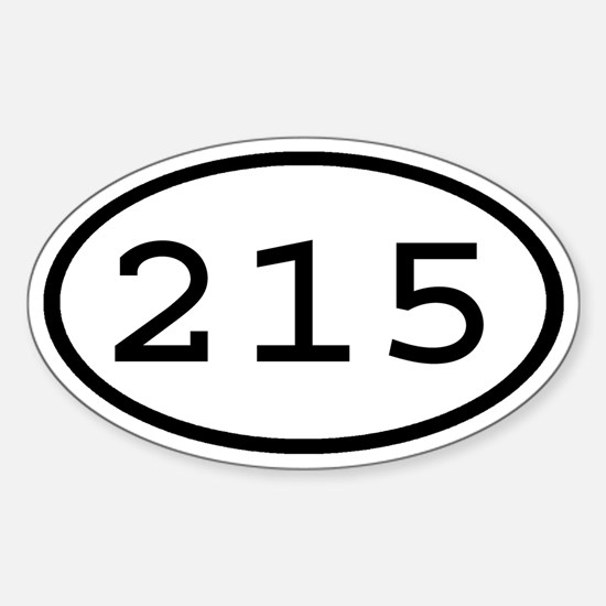 215 Oval Oval Decal