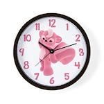 Pink skunk Clock
