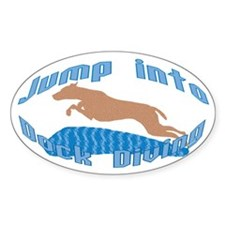 Jump Into Diving Dogs Oval Decal