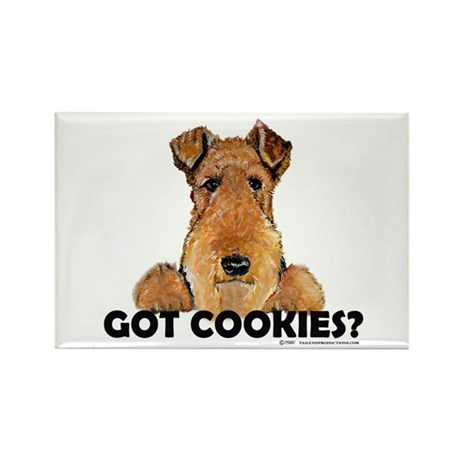 Welsh Terrier Cookies Rectangle Magnet (10 pack)