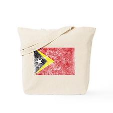 Vintage East Timor Flag Tote Bag