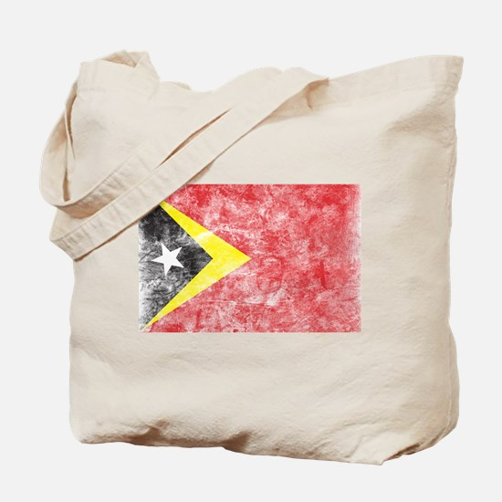 Vintage East Timor Flag Tote Bag