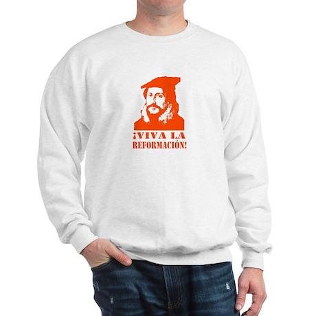 John Calvin Viva La Reformacion! Sweatshirt