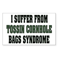 Tossin Bags Syndrome Rectangle Decal